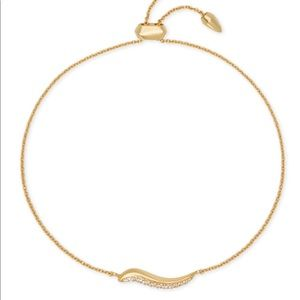 Kendra Scott gold Jemminah adjustable bracelet